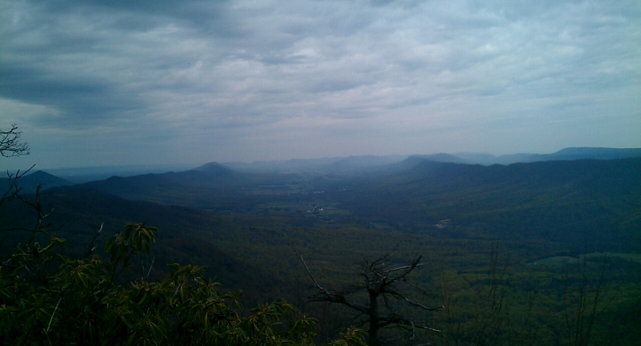 View of the valley to the north from Big Mountain's peak.
