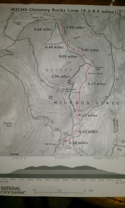 Our proposed path along the A.T. and select others in Michaux State Forest.