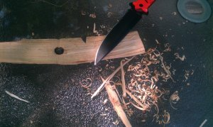 Making the base of a bow drill failure.