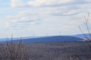 Windmills on a distant ridge as seen from OLP.