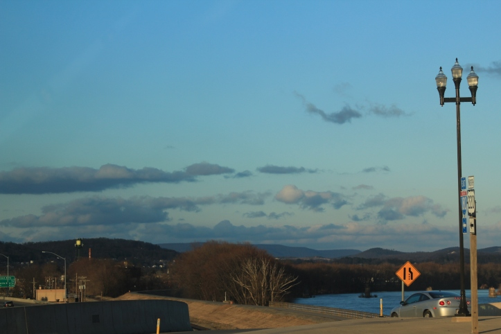 Evening sky over Williamsport, Pa., following our climbing hike.