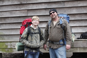 """Freestyle"" (right) and his son took up backpacking on a whim."