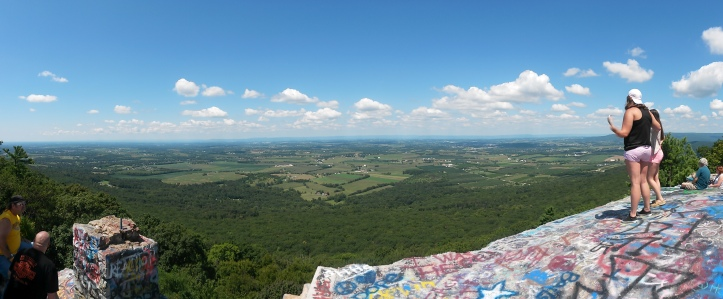 Panoramic view of Maryland and Pennsylvania from High Rock near Pen-Mar.