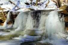 The second falls on Dutter's Run with its ice pools at the base.