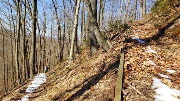 Making our way up the switchback of High Knob.
